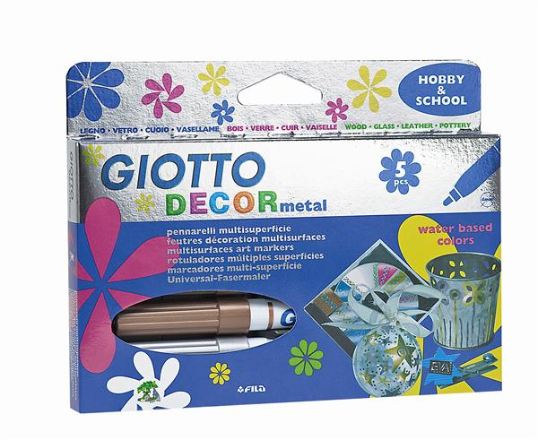 Fixky GIOTTO DECOR metal / 5 farieb