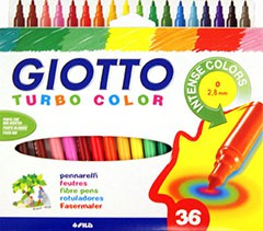 Fixky GIOTTO TURBO COLOR / 36 farieb